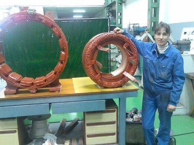 пренавиване на възбудителка за ветрогенератор за Гамеса Испания /по проект / - Памс 9 - Видин